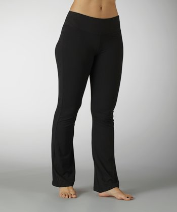 Black Sanded Dry-Wik Yoga Pants