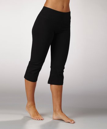 Black Tummy Control Capri Pants