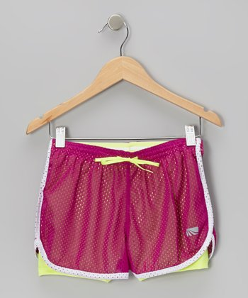 Neon Purple Charger Running Shorts