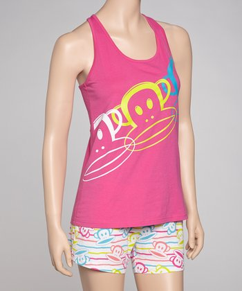 Pink & White Neon Julius Pajamas