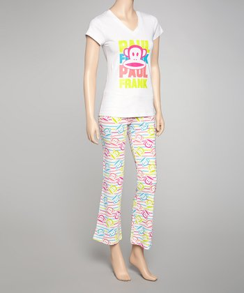 White & Neon Green Julius Pajamas