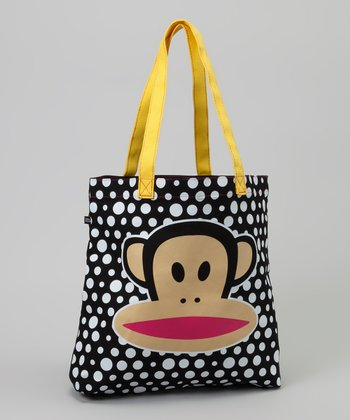 Black & White Polka Dot Julius Tote
