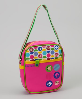 Neon Green & Pink Polka Dot Bag