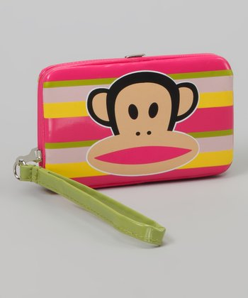 Pink & Green Stripe Julius Wristlet