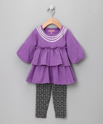 Purple Sally Tunic & Leggings - Infant