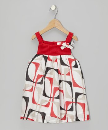 Red & Black Pin Tuck Dress - Infant, Toddler & Girls