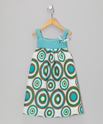 Aqua Pin Tuck Dress - Infant & Toddler