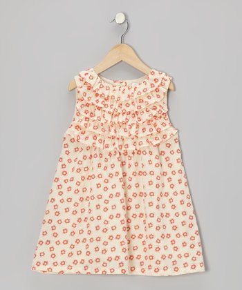 Red & White Floral Ruffle Dress - Infant & Toddler