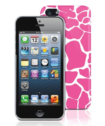 Pink Giraffe Case for iPhone 5