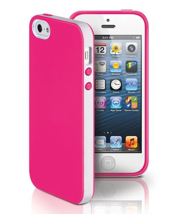 Pink & White Dual Case for iPhone 5
