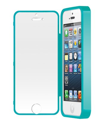 Turquoise Screen Protector Case for iPhone 5
