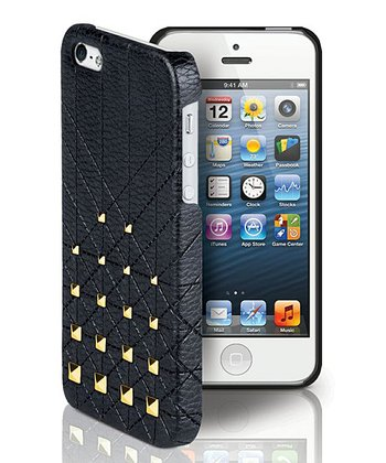 Black & Gold Mini Studs Case for iPhone 5