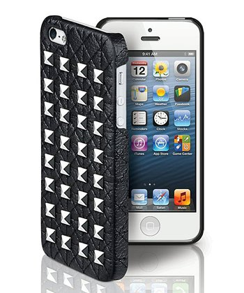 Black & Silver Large Studs Case for iPhone 5