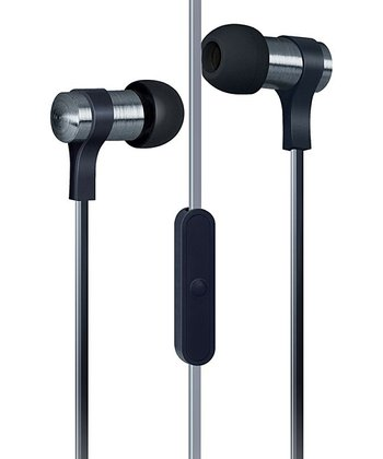 Black Flat-Cable Earbuds