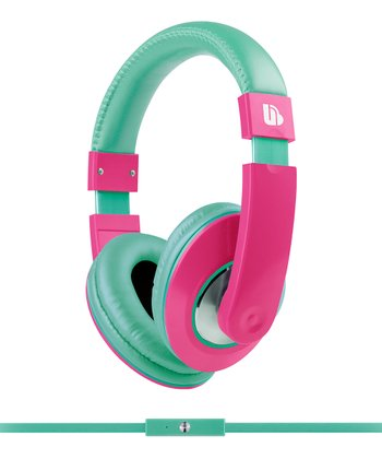 Green & Pink Tempo Over-Ear Heaphones