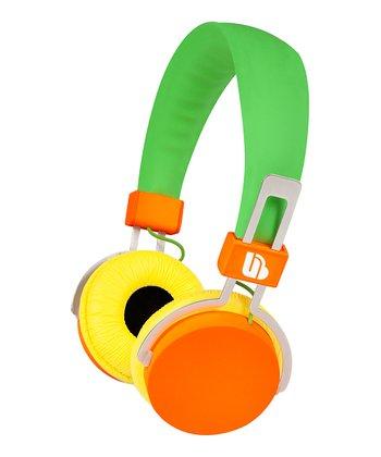 Green & Orange Urban Beatz's Hi-Light Power Headphones