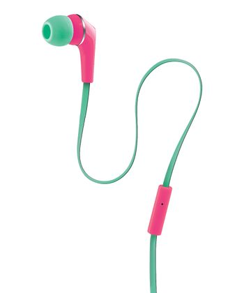 Pink & Green Urban Beatz Equinox Earbuds