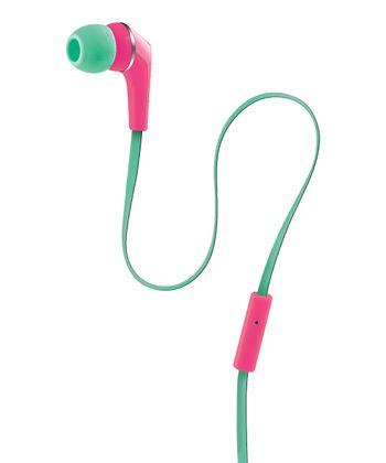 Pink & Green Urban Beatz Equinox Earbuds