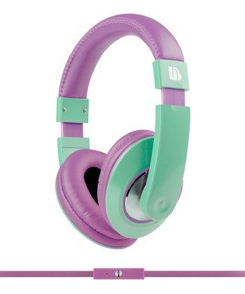 Green & Purple Tempo Over-Ear Heaphones