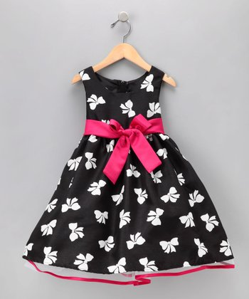 Black & White Bow Dress