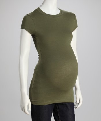 Army Maternity Crewneck Top - Petite