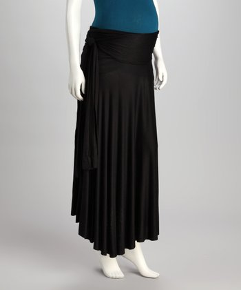 Black The 40 week SASH Maternity Skirt - Women