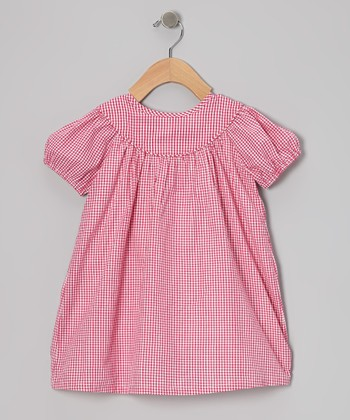 Hot Pink Gingham Dress - Infant, Toddler & Girls