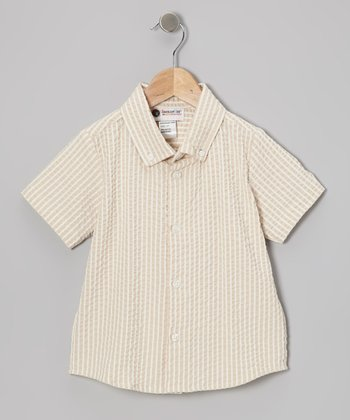 Khaki Button-Up - Toddler & Boys