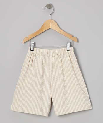 Khaki Seersucker Shorts - Infant, Toddler & Boys
