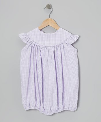 Lavender Gingham Bubble Bodysuit - Infant, Toddler & Girls