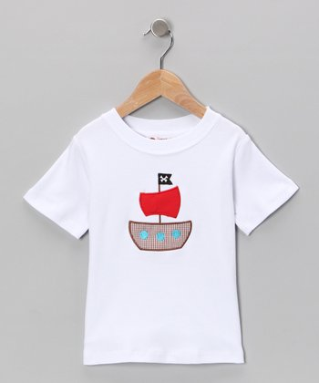 White Pirate Ship Tee - Infant, Toddler & Boys