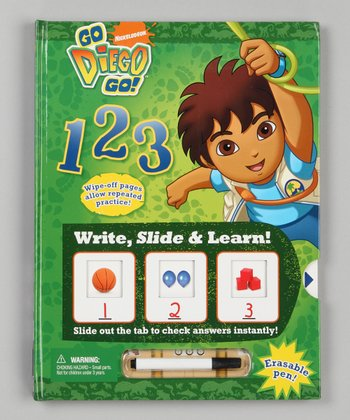 1-2-3 Go Diego Go! Write, Slide & Learn Hardcover