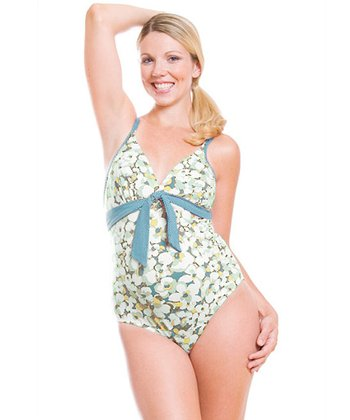 Green Camarga Maternity One-Piece Swimsuit
