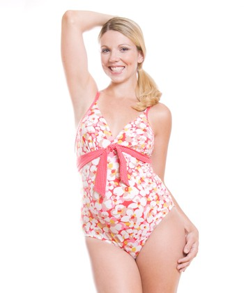 Red Camarga Maternity One-Piece