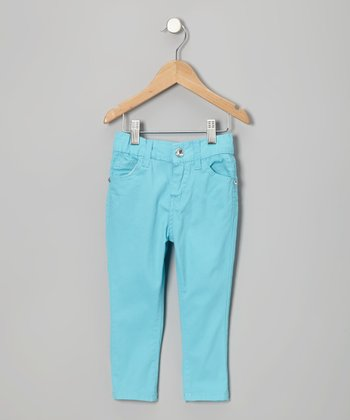 Blue Straight-Leg Jeans - Infant & Girls