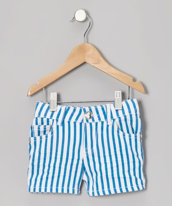 Blue Stripe Shorts - Toddler & Girls