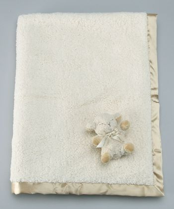 Natural Double Sherpa Baby Blanket & Plush Toy