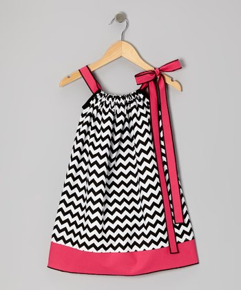 Black Zigzag Swing Dress - Infant, Toddler & Girls