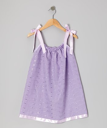 Lavender Eyelet Swing Dress - Infant, Toddler & Girls