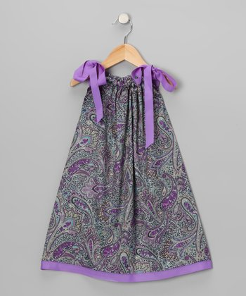 Purple Paisley Swing Dress - Infant, Toddler & Girls