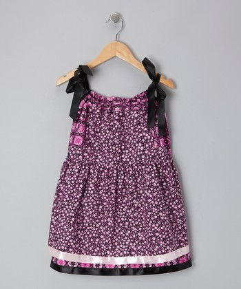Pink Floral Pinafore Dress - Infant