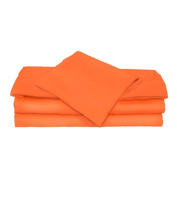Orange Microfiber Sheet Set