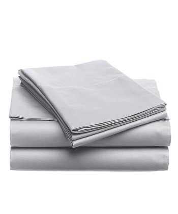 Storm Gray Microfiber Full Sheet Set