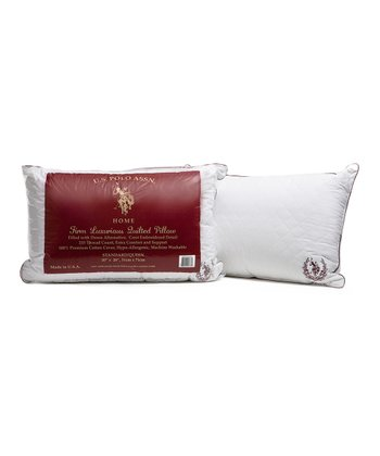 Burgundy Jumbo Quilted Extra-Firm Emblem Pillow