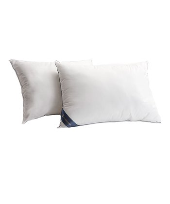 White Microfiber Pillow - Set of Two