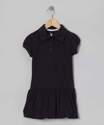 U.S. Polo Assn. Navy Bubble Polo Dress - Girls