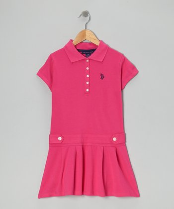 Pink Polo Drop-Waist Dress - Girls