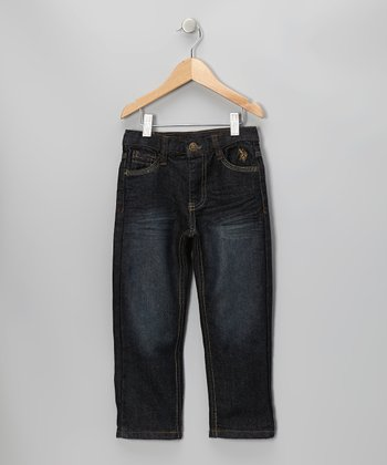 Blue Wash Straight-Leg Jeans - Toddler & Boys