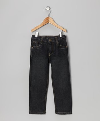 Dark Resin Wash Straight-Leg Jeans - Toddler & Boys