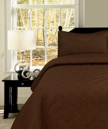 Chocolate Diamond Twin Quilt Set
